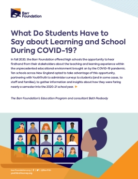 What Do Students Have to Say about Learning and School During COVID-19?