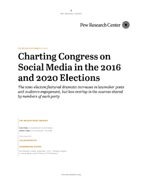 Charting Congress on Social Media in the 2016 and 2020 Elections
