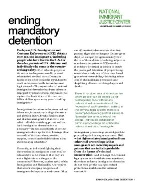 Ending Mandatory Detention