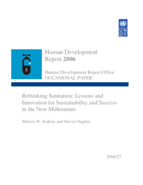 Rethinking Sanitation: Lessons and Innovation for Sustainability and Success in the New Millennium